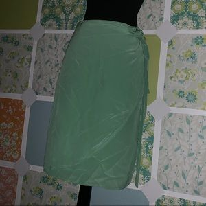 100% SILK WRAP SKIRT
